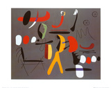 Joan Miró - Peinture Collage - Reprodüksiyon