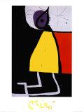 Mujer en la noche Láminas por Joan Miró