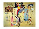 Centro con accompagnamento Poster di Wassily Kandinsky