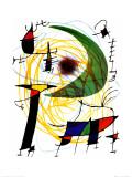 Luna verde Lámina por Joan Miró