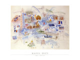 Paris 14 Juillet Print by Raoul Dufy