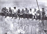 Lunchtime Atop a Skyscraper NYC Plakater af Charles C. Ebbets