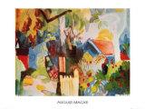 Landscape Kunst af Auguste Macke