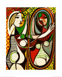 Jeune fille devant un miroir, 1932 Affiche par Pablo Picasso