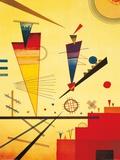 Structure joyeuse Affiches par Wassily Kandinsky