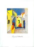 Blick in Eine Gasse Poster af Auguste Macke
