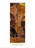 Vattenormar I, ca 1907 Affischer av Gustav Klimt