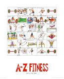 Le fitness de A à Z Posters par Nicola Streeten