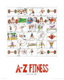 A-Z of Fitness Posters by Nicola Streeten