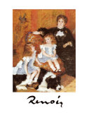 Madame Charpentier and Her Children Poster by Pierre-Auguste Renoir