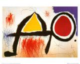 Personagge Devan Le Soleil Kunst av Joan Miró