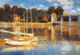 El puente en Argenteuil Póster por Claude Monet