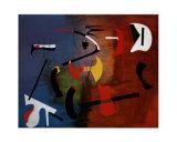 Composición de pintura Lámina por Joan Miró