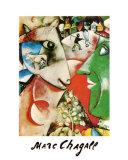 Yo y la aldea Póster por Marc Chagall