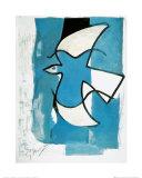 L'oiseau bleu et gris Posters par Georges Braque