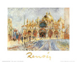 Piazza San Marco, Venice Posters by Pierre-Auguste Renoir