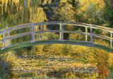Die japanische Brücke Kunst von Claude Monet