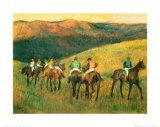 Rennpferde in Landschaft Kunstdrucke von Edgar Degas