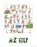 A-Z of Golf Prints by Nicola Streeten