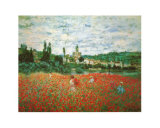 Field of Poppies at Giverny Kunst af Claude Monet