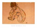 Kauernder Weiblicher Akt, 1914 Prints by Egon Schiele