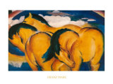 Little Yellow Horses, c.1912 Affischer av Franz Marc
