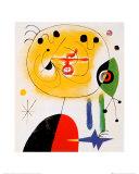 Et Fixe Les Cheveux d'une Etoile Prints by Joan Miró