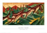 Affenfries 1911 Kunstdrucke von Franz Marc