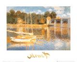A ponte em Argenteuil Pôsters por Claude Monet