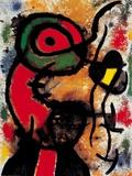 Joan Miró - Personnage et Oiseau, c.1948 - Poster