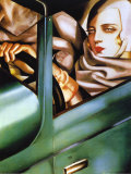 Autorretrato en el Bugatti verde, 1925 Psters por Tamara de Lempicka