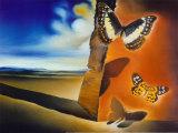 Paisaje con mariposas Láminas por Salvador Dalí