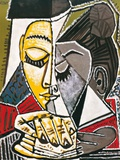 Cabeza de una mujer leyendo Lámina por Pablo Picasso
