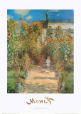 Le Jardin de Monet &#224; V&#233;theuil Posters par Claude Monet