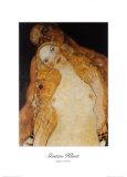 Eva und Adam Poster von Gustav Klimt