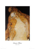 Adam and Eve Poster by Gustav Klimt