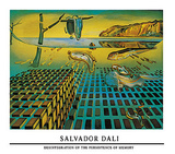 Disintegration of the Persistence of Memory Poster by Salvador Dalí