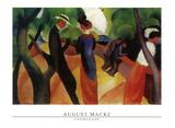 Promenade, 1913 Plakater af Auguste Macke