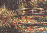 Japanese Bridge at Giverny Affiches van Claude Monet