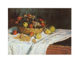 Still Life with Grapes and Fruit Affiches par Claude Monet