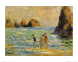Moulin Huet Bay Guernsey Prints by Pierre-Auguste Renoir