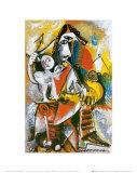 Musketier und Amor Kunstdrucke von Pablo Picasso