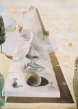 Apparition du visage de l'Aphrodite Poster par Salvador Dalí