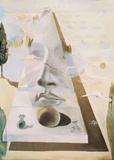 Erscheinung des Gesichts der Aphrodite von Knidos in einer Landschaft Kunstdruck von Salvador Dalí