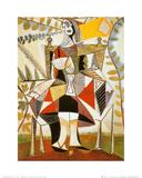 Mujer sentada en un jardín Láminas por Pablo Picasso