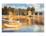 Broen ved Argenteuil Plakater af Claude Monet