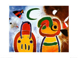 Joan Miró - L'Oiseau au Plumage Deploye - Poster