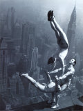 Acrobats on the Empire State Building Art