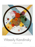 Cercle dans un cercle Posters par Wassily Kandinsky