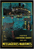 Messageries Maritime, Visitez l'Extreme-Orient Prints by Bernard Blacheire